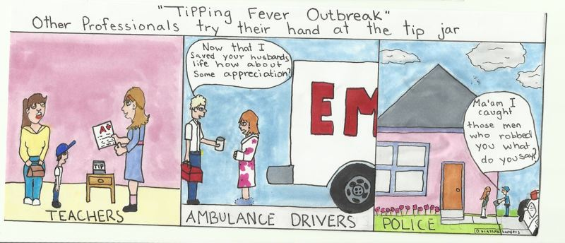 by: CARTOON COURTESY: DEBRA BLASZAK - This editorial cartoon was created by Debra Blaszak, a resident of Milwaukie, and her illustrator, Rene Sanders, in response to recent articles about PERS and an ambulance-contract fight in Clackamas County.