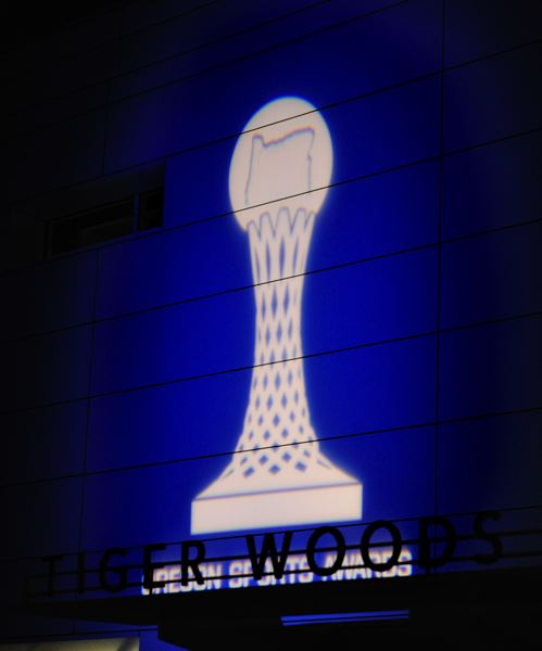 by: JOHN LARIVIERE - The Oregon Sports Awards trophy logo