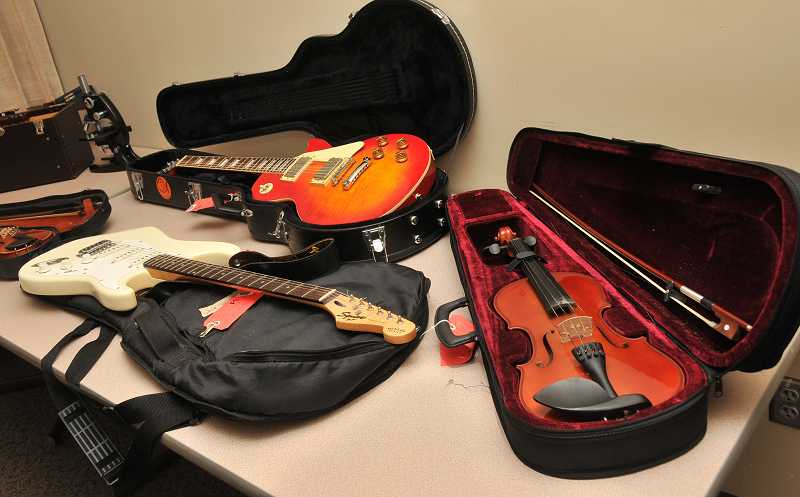 by: VERN UYETAKE - Police recovered a variety of musical instruments following an investigation of burglaries in the metro area.