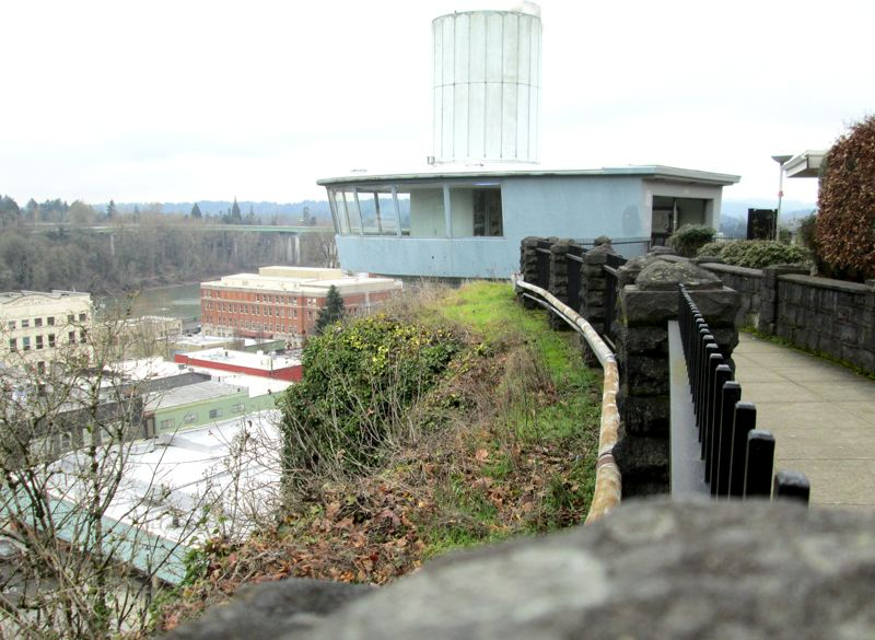 by: KEVIN HARDEN - Oregon City's Municipal Elevator is a 751-ton concrete and steel icon on Seventh Street. It could be a national historic site if a city project can get it named to the National Register of Historic Places.