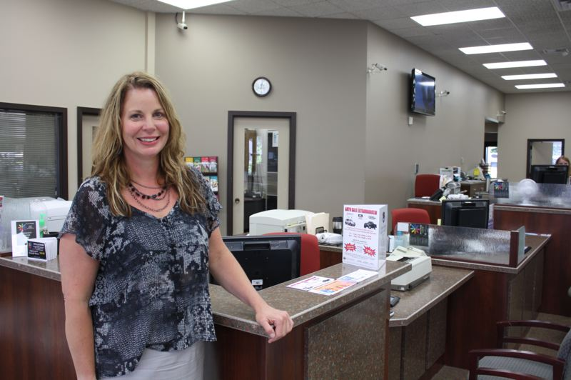 by: SPOTLIGHT PHOTO: KATIE WILSON - St. Helens Community Federal Credit Union CEO Brooke VanVleet in the credit union lobby at the St. Helens location.