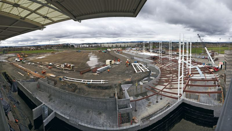 by: TRIBUNE PHOTO: JAMIE VALDEZ - Construction of a new ballpark is moving along at the Gordon Faber Recreation Complex. The ballpark will be home field for the Hillsboro Hops.