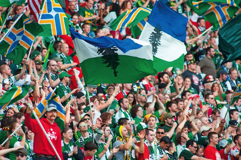 by: TRIBUNE FILE PHOTO: CHRISTOPHER ONSTOTT - Members of the Timbers Army, the lifeblood of the soccer team's following, occupy the north end of Jeld-Wen Field during games. The Timbers expect another year full of Jeld-Wen sellouts. Single-game tickets go on sale Monday, Feb. 18.
