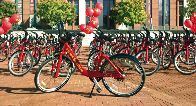 by: PHOTO COURTESY OF ALTA PLANNING & DESIGN - Capital Bikeshare offers short-term rental bikes at stations like this one in Washington D.C. and nearby suburbs. Alta, which will run the Portland system, operates the D.C. program.