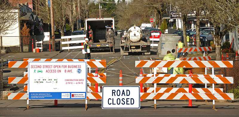 by: VERN UYETAKE - Second Street between A and B avenues closed Tuesday for a major road construction project. The project is expected to be finished by mid-June.