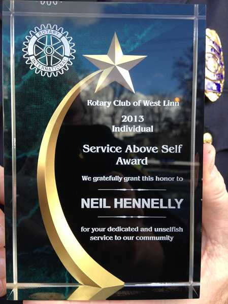 by: SUBMITTED - The Service Above Self award recognizes up to 150 Rotarians annually for their dedication and service to the community.