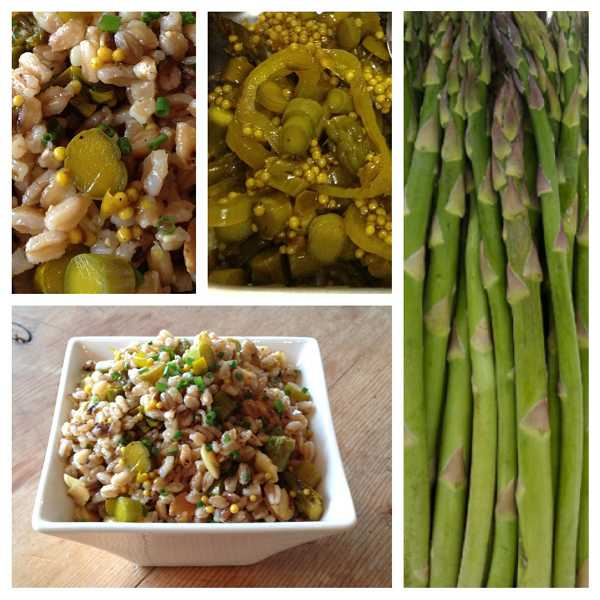 by: SUBMITTED PHOTO: GOURMET PRODUCTIONS  - The folks at Gourmet Productions are big fans of pickled asparagus. They like to eat it as a snack and also incorporate it into dishes, such as the Farro Salad with Pickled Asparagus and Almonds.