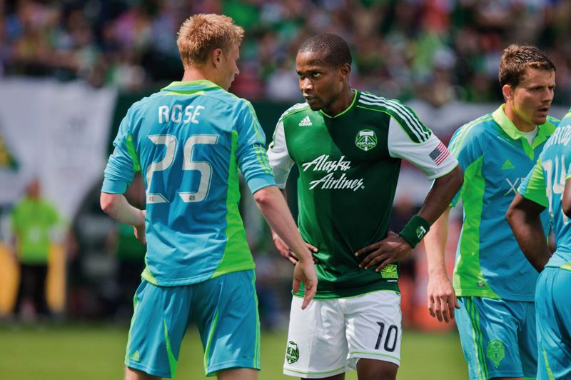 by: TRIBUNE FILE PHOTO: MEG WILLIAMS - Portland Timbers forward Danny Mwanga stares down an opponent during a match last summer.