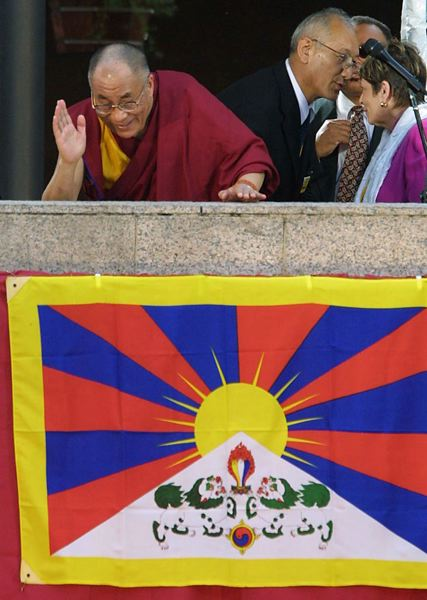 by: TRIBUNE FILE PHOTO: L.E. BASKOW - The 14th Dalai Lama waved to crowds at Pioneer Courthouse Square in 2001, the last time he visited Portland. The Tibetan spiritual leader plans several local events as part of a three-day environmental summit in the Rose City.