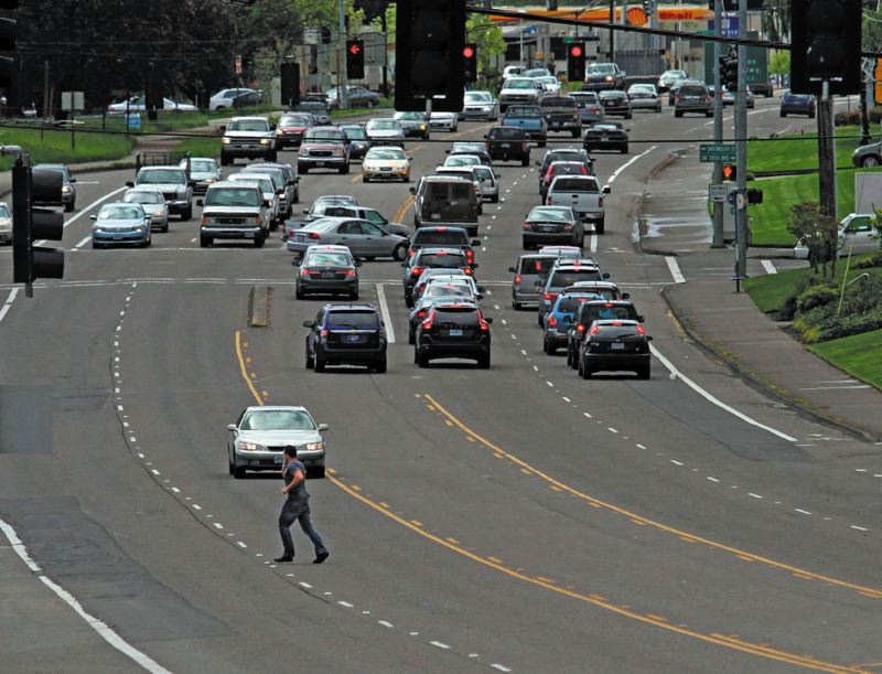 by: PAMPLIN MEDIA GROUP: JONATHAN HOUSE -  Highway 99W in Tigard is one of the areas being studied as part of the SW Corridor Plan for high-capacity transit. Findings in a Portland audit could throw a monkey wrench into the study's funding process.