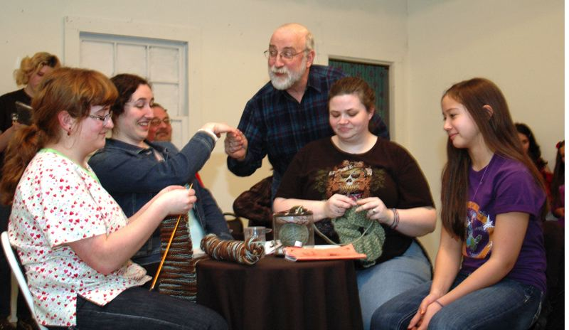 by: NEWS PHOTO: SCOTT JORGENSEN - Cast members rehearse for the upcoming production of 'Holder Posey, the Felonious Photographer.'