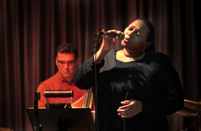by: CONTRIBUTED PHOTO - Marilyn Keller often sings in clubs, hotels and restaurants in the Portland area, as well as Augustana Lutheran Church, where she sings in the jazz worship service.