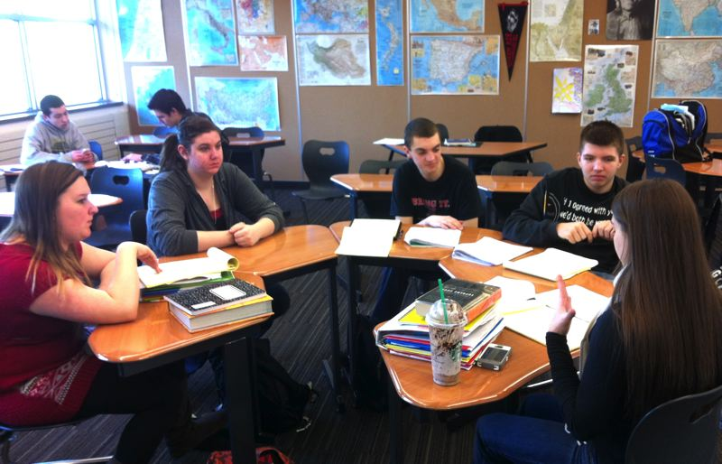 by: POST PHOTO: LISA K. ANDERSON - Sandy students prepare for mock trial regionals, which will be held Saturday, March 2.