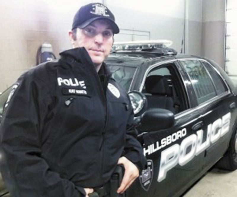 by: COURTESY PHOTO - Kurt Van Meter, a Hillsboro police officer, writes and sings country music in his off-hours. Hes performing at a benefit dance for Lisa Cannon and her children on March 8.