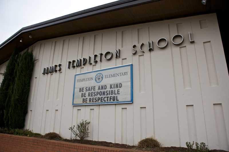 by: TIMES PHOTO: JAIMES VALDEZ - Templeton is one of the oldest schools in the district, opening in 1965. The district said it would be testing the water quality at all of its older schools after lead was found in Templetons water supply.