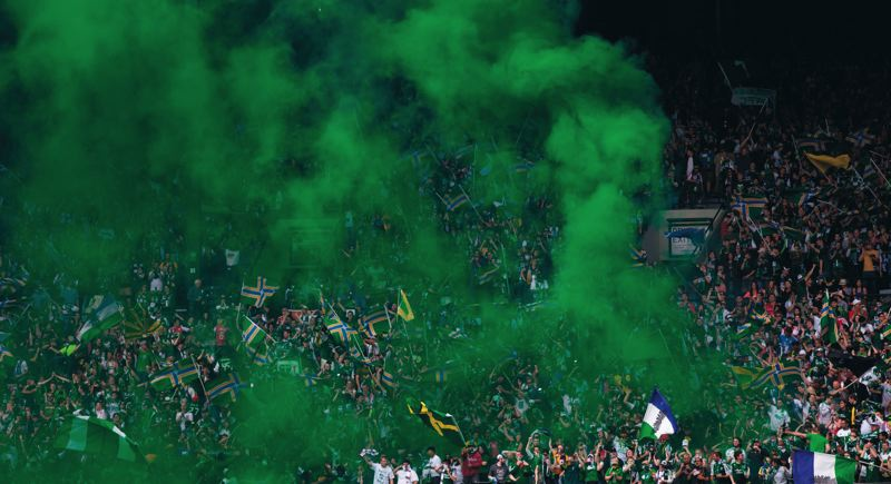 by: TRIBUNE FILE PHOTO: MEG WILLIAMS - With a few more smoke bombs (and goals and wins) in 2013, the Portland Timbers could make the playoffs for the first time in their short MLS history.