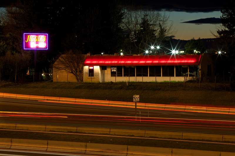 by: THE TIMES: JAIME VALDEZ - Since 1984, the Jiggles strip club sign has marked the gateway to Tualatin. CenterCal property's recent development plans, formally submitted to the city last week, show the company expects to build a retail center on what is currently the Jiggles property.