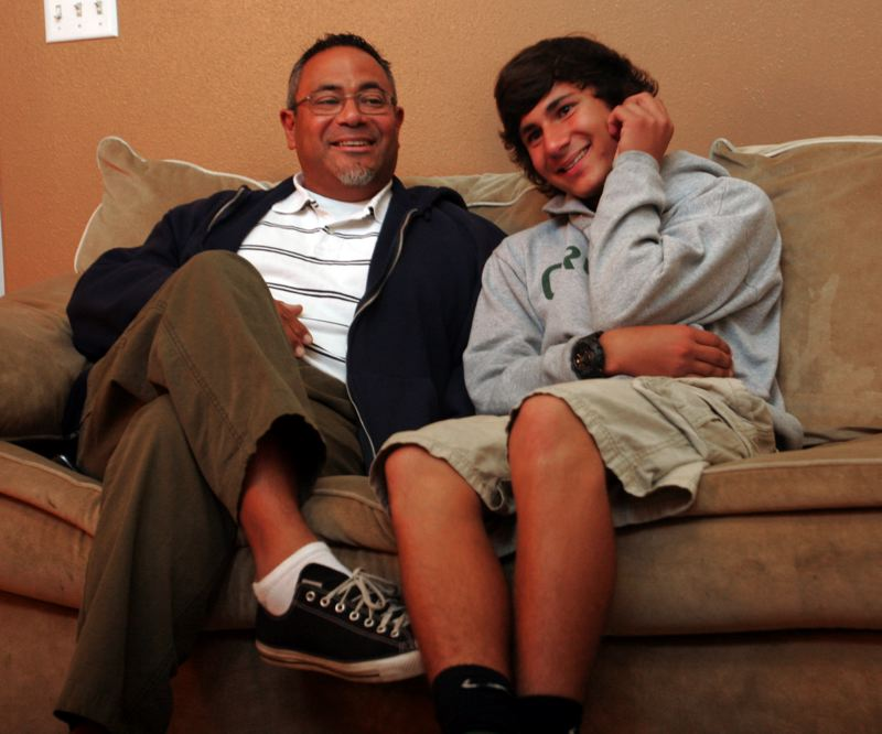 by: FILE PHOTO - 'I knew that if I messed up, it'd be on me,' Marcos Ugarte said in an interview with The Outlook last fall. 'I couldnt mess up.' Marcos and his father, Eduardo, worked together to save a neighbor boy from the second story of his burning house Sept. 24, 2012.