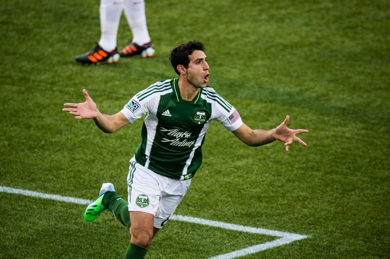 by: TRIBUNE PHOTO: CHRISTOPHER ONSTOTT - Diego Valeri's goal and play helped ignite the Portland Timbers' attack in a 3-3 draw Sunday with New York.