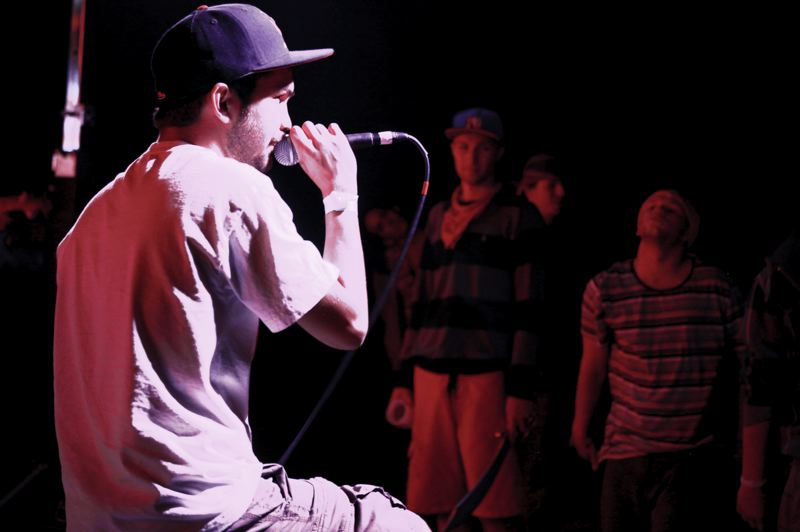by: SUBMITTED PHOTO: BRIAN RAPAPORT - Rapper Davlid Dalla Gasperina, aka David Dalla G, performing at a recent concert.