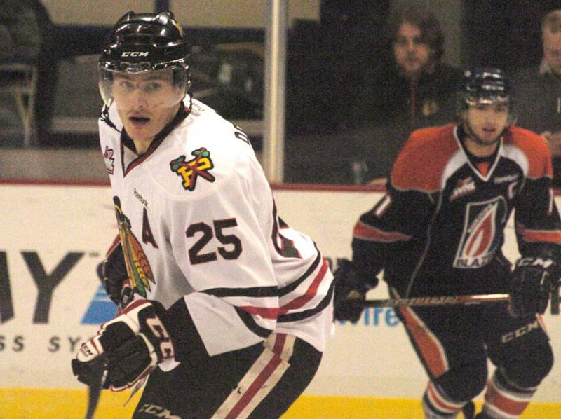 by: PAMPLIN MEDIA GROUP: DAVID BALL - Portland Winterhawks center Taylor Peters (left) has signed with the NHL Dallas Stars.