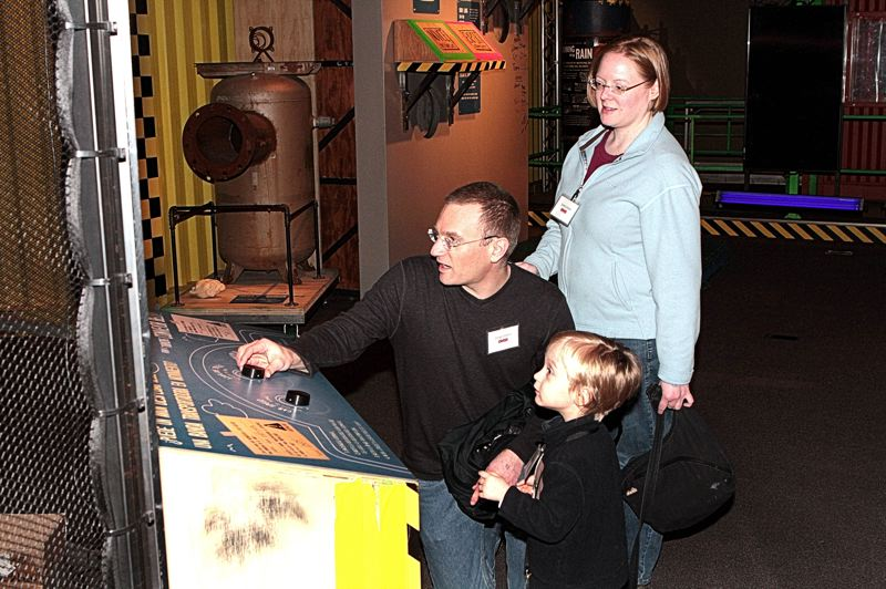 by: DAVID F. ASHTON - The Unrein family's Greg, Elliot, and June get a hands-on experience at 'MythBusters: The Explosive Exhibition'