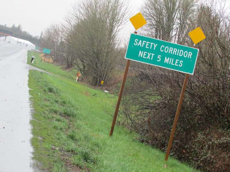 by: SPOTLIGHT PHOTO: KATIE WILSON - A five-mile ODOT-designated safety corridor between Scappoose and St. Helens has been recommended for decommissioning, though several proposals are moving forward for $3.2 million in safety improvements. SPOTLIGHT PHOTO: KATIE WILSON