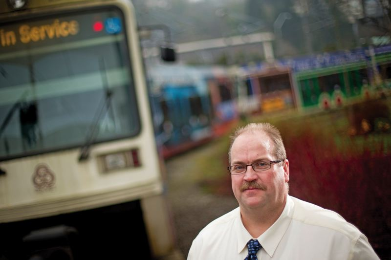 by: TRIBUNE PHOTO: CHRIS ONSTOTT - Amalgamated Transit Union 757 President Bruce Hansen says TriMet is spending too much money on managers.