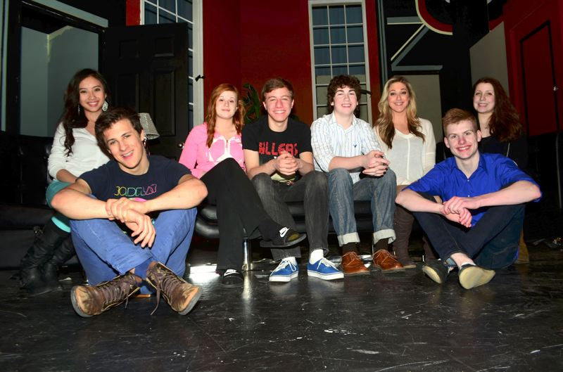 by: CONTRIBUTED PHOTO -  The cast of 'Lend Me a Tenor' is made up of eight Barlow High students. The play debuts Wednesday, March 13, at the high school.