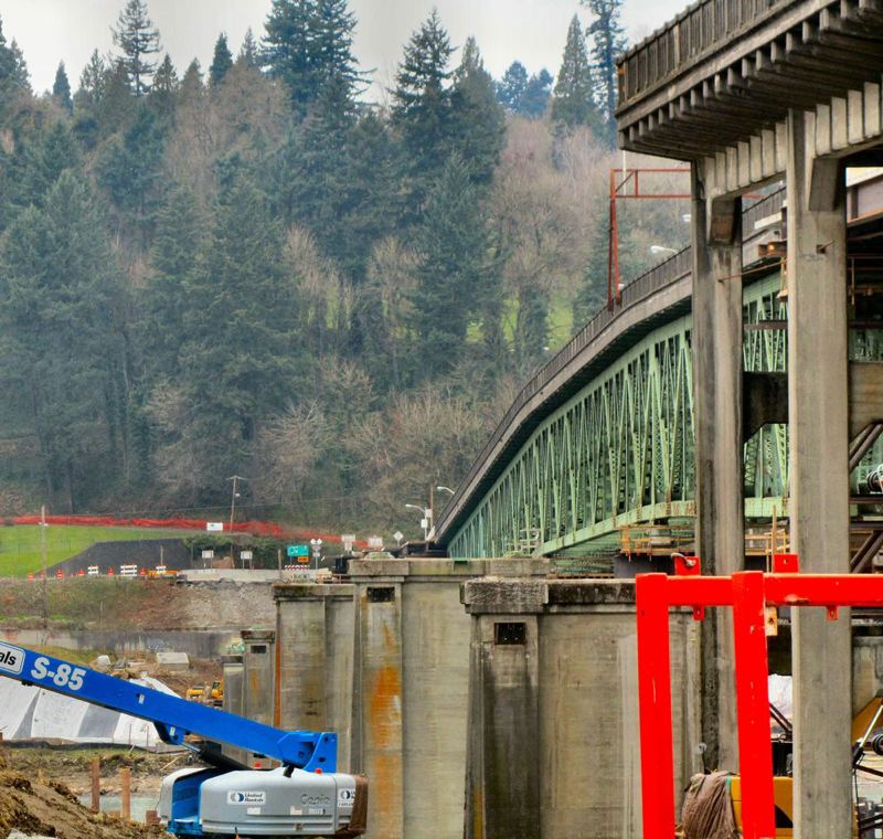 by: SELLWOOD BEE FILE PHOTO - Blasting on the west end of the Sellwood Bridge replacement project could disturb area residents late at night on Wednesday, March 13, and Thursday, March 14. The blasting will clear a hillside for new traffic lanes at the west end of the bridge.