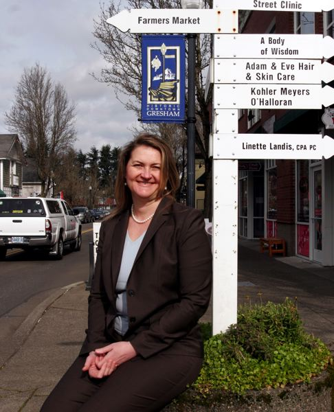 by: OUTLOOK PHOTO: JIM CLARK - Alison Hart is the chief executive officer of the Gresham Chamber of Commerce.