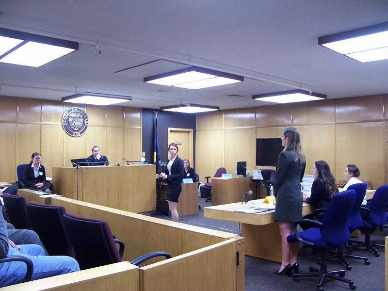 by: SUBMITTED - Lakeridge High School took on Colton High School at a regional mock trial competition on March 2.