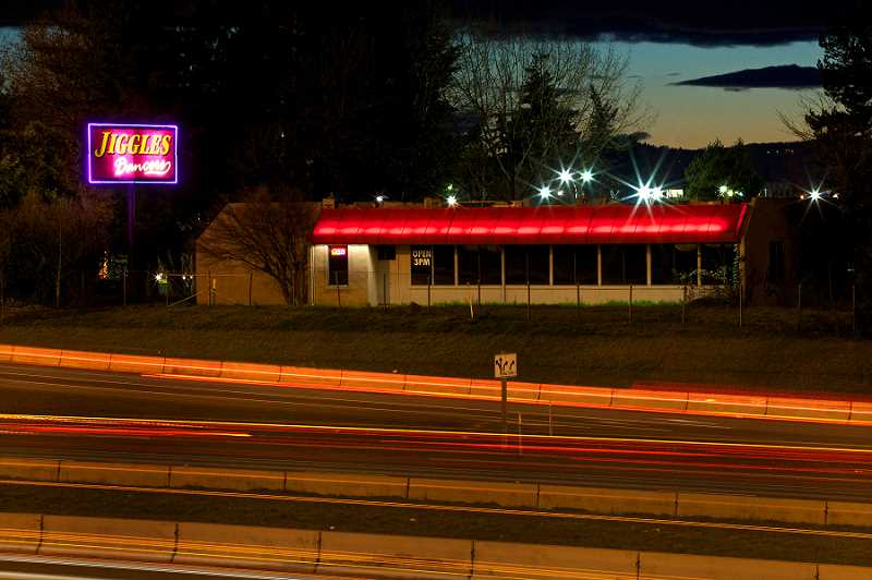 by: JAIME VALDEZ - The Jiggles sign off the I-5 has marked the gateway to Tualatin for nearly 30 years, but will go dark within the next year as a result of CenterCal Properties' acquisition of the property for its Nyberg Rivers development project.