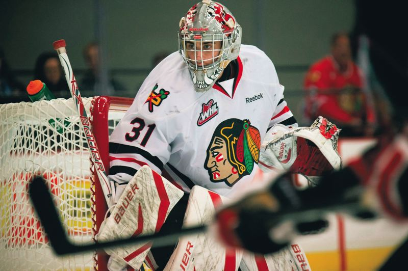 by: TRIBUNE FILE PHOTO: JON HOUSE - Mac Carruth has put together a strong season in goal for the Portland Winterhawks, setting records and helping the team post the best record in the Western Hockey League.