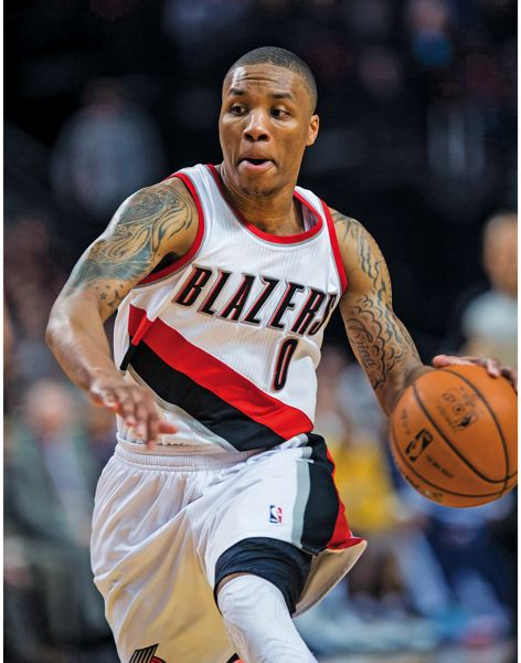 by: TRIBUNE PHOTO: CHRISTOPHER ONSTOTT - Damian Lillard is reaping some rewards from his outstanding play as a rookie with the Trail Blazers, but he says his focus remains on winning games, getting better and the future of the team.