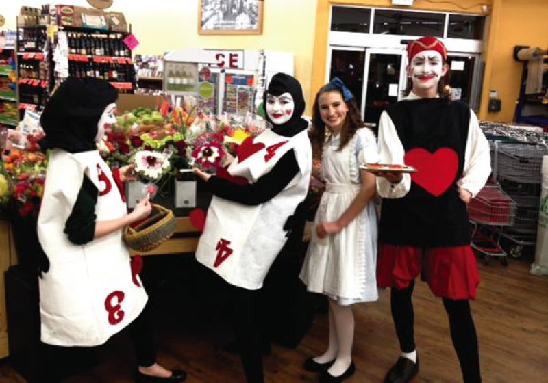 by: CONTRIBUTED PHOTO -  Cast members Molly Murphy-Brown, Kamryn Tenbush, Alleah Schwab and James Tenbush appeared at an Estacada business to help promote the show. CONTRIBUTED PHOTO
