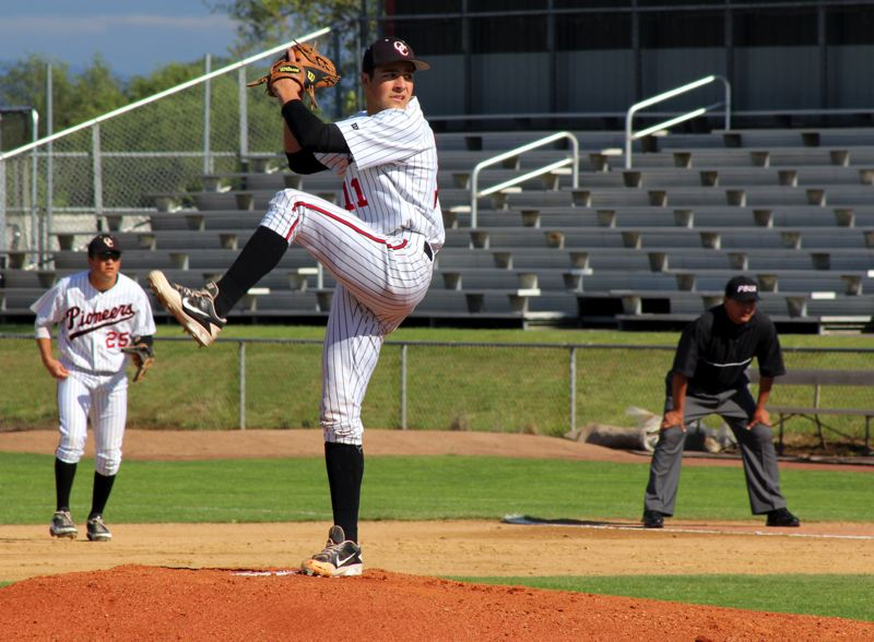 by: RYAN LAGRANGE - Pitching will be a strength for Oregon City this spring, as the Pioneers return their top four pitchers from last years state championship team, including first-team all-league pitcher Rilyn Lewchuk (11).