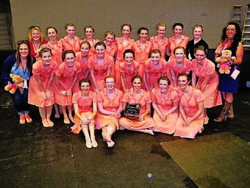 by: SUBMITTED PHOTO - The West Linn High School Debutantes took fourth place in the state last weekend.