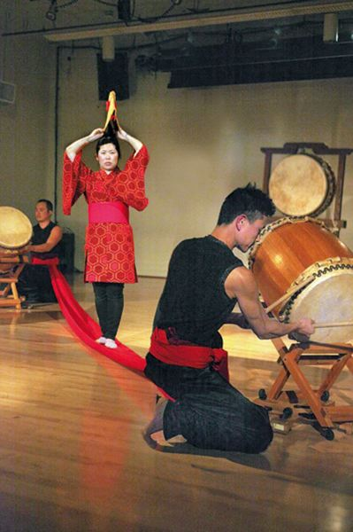 by: COURTESY OF PORTLAND TAIKO - Portland Taiko, the Asian-American drumming group, puts on 'Insatiable,' March 29-30 at Portland State University's Lincoln Hall.