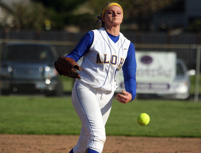by: MILES VANCE - ALOHA LEADER - Aloha senior Kiana Wood was named Metro League Pitcher of the Year in 2012, and her Warriors are favored in the upcoming 2013 Metro softball race.