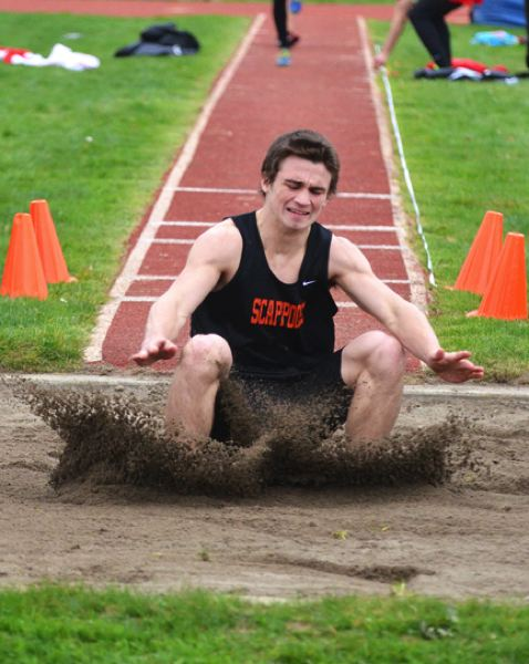 by: JOHN BREWINGTON - Leaper. The Tribe's Paul Revis went 21-feet, 5-inches in his very first long jump. Revis, a senior, is out for track for the first time.