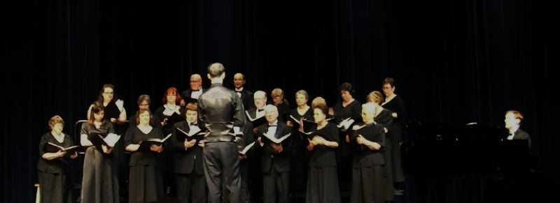 by: SUBMITTED PHOTO - The Columbia Chorale singers perform 'Lux Aeterna' Saturday night in St. Helens.