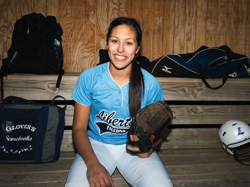 by: HILLSBORO TRIBUNE PHOTO: CHASE ALLGOOD - Liberty senior Alex Flores missed all of last season with a stress fracture in her foot, but she's back this year to lead the Falcons as they chase another state playoff berth.