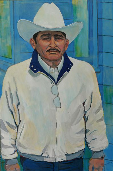 by: NANCY TRAVERS  - 'Los Trabajadores Mexicanos' calls attention to migrant workers.