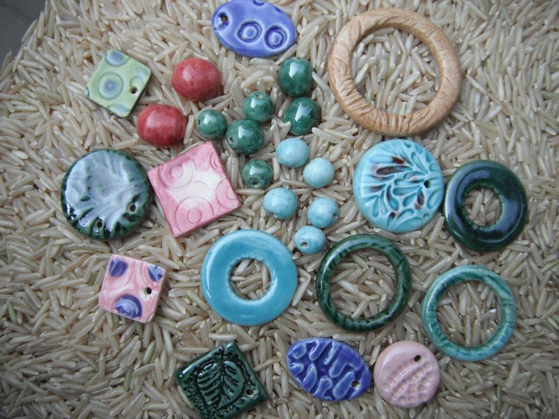 by: PHOTO BY: SUZ MAUS - Students enrolled in a June 1 ceramic bead-making class can take home their own colorful creations.