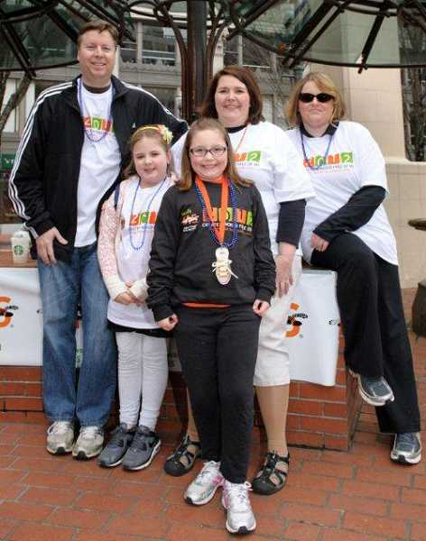 by: SUBMITTED PHOTO - Claires family gathered for Walk MS last year: back row, from left, is Ken Sarnowski, Emma Boden, Carol Sarnowski and Felicha Fields; in the front is Claire Sarnowski.