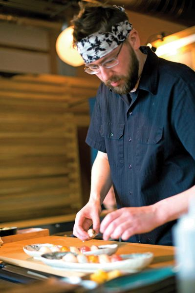 by: TRIBUNE PHOTO: CHRISTOPHER ONSTOTT - Chefs such as Brian Stanbro are known for their creative treatments at Boxer Sushi in Southeast Portland.