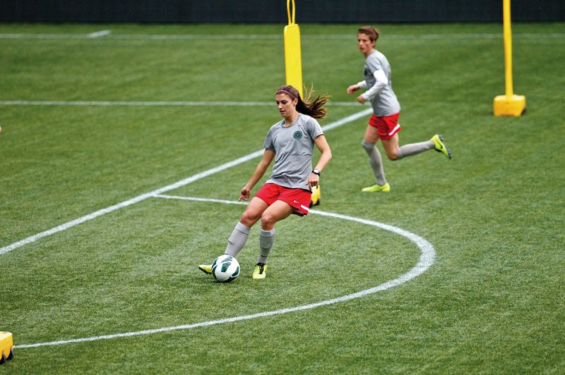 by: COURTESY OF CRAIG MITCHELLDYER/PORTLAND THORNS - Alex Morgan, a U.S. National Team star, looks forward to teaming with Canadian superstar Christine Sinclair as Portland Thorns attackers. But getting the ball to them will be important for teammates.