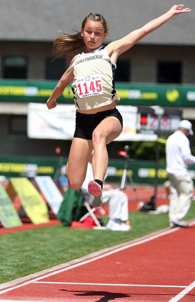 by: MILES VANCE - HIGH FLYER - Southridge senior Jordyn Searle is aiming for another trip to the Class 6A state track meet in 2013.