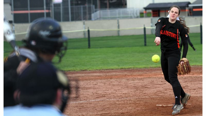 by: JONATHAN HOUSE - Gladstone junior Nena Dudley struck out 13 and didnt allow a baserunner in a recent 10-0 six-inning win over Sutherlin. Heading into play this week, Dudley sported a 5-0 record, with 61 strikeouts in 30 innings.